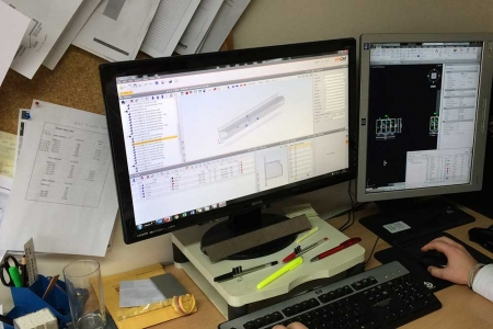 Wrightstyle technical support example of cad drawings on computer