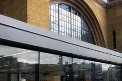 Blast Resistant curtain wall facade exterior building view