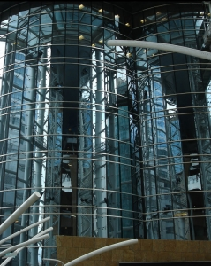 Curtain Wall Glazing example of fire resistant interior perspective
