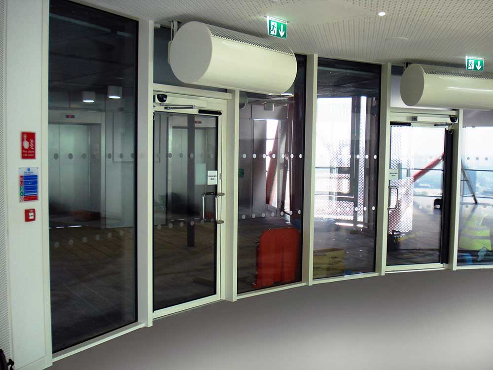 Fire & smoke resistant doors internal curved perspective