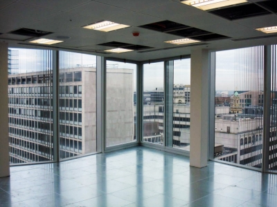 Sound Reduction curtain wall interior view
