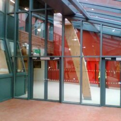 sound Glazed Doors Screens and Windows internal doors lobby view