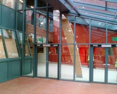 sound Glazed Doors Screens and Windows internal doors lobby view