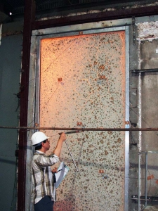 fire resistant glass Specialist Glazing example of testing for fire resistant glass