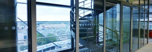 Specialist Glass example of fire resistant glazing interior view