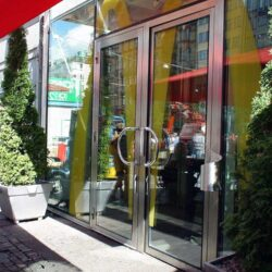 Thermal Glazed Doors Screens and Windows exterior McDonalds doors