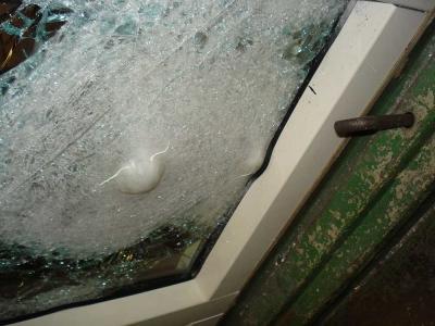 bullet resistant glass testing on glazing and steel framework