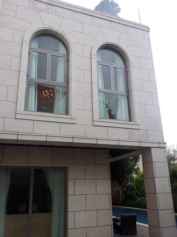 bullet resistant glass curtain wall facade exterior building view