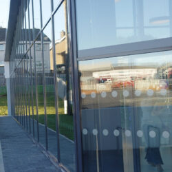 Curtain wall glazing fire resistant example