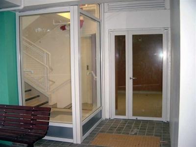 Fire & smoke resistant doors screen and door view