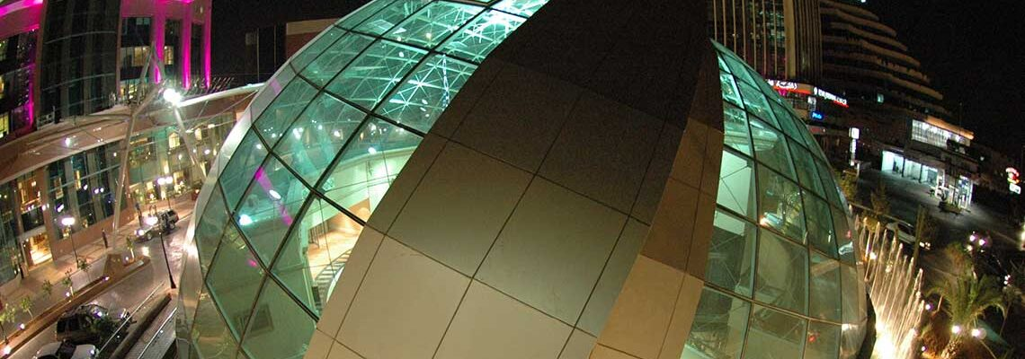 Gallery Mena Large dome at night perspective