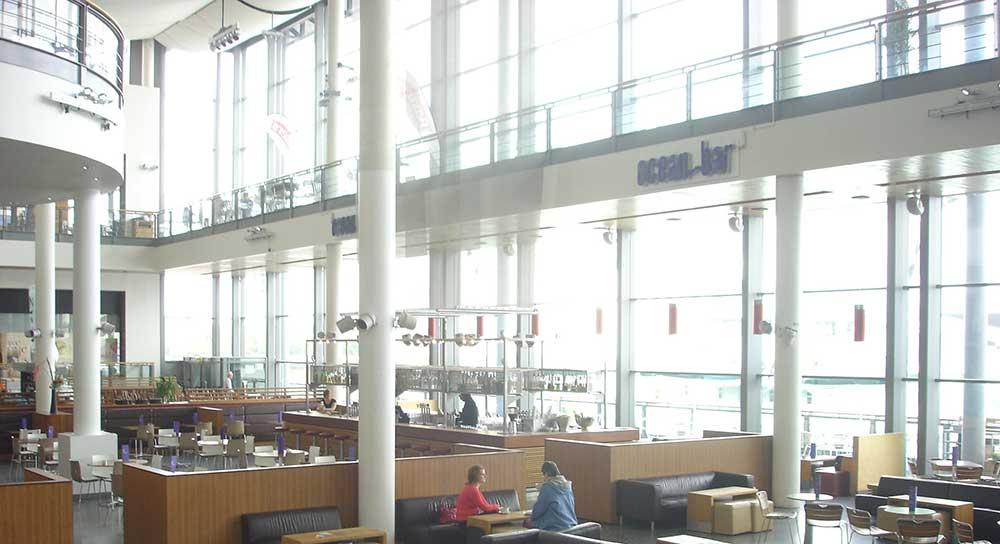 Wonderful Large Span Curtain Wall Facade Ocean Terminal Cafe
