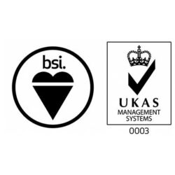 ISO 9001 Quality Assurance bsi and UKAS logos