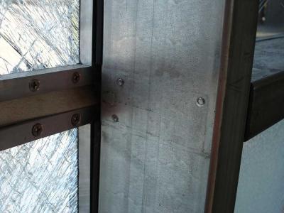 bomb resistant glass detail of blast testing