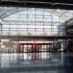 T-Series interior view of glazing and steel framework
