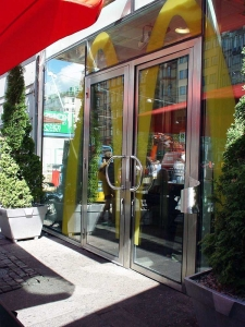 Thermal Glazed Doors Screens and Windows exterior McDonalds doors