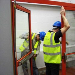 Training Support example of fire door installation